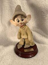 DOPEY 1993 Disney Signed GIUSEPPE ARMANI Italy Figurine Statue 0200C Mint Rare