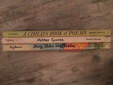 Lot 3 Vintage Children's Books Fujikawa by Grosset & Dunlap Mother Goose Poems