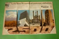 1977 Original Advertising' Air Iran Airlines Anniversary Celebrations 2 Pages