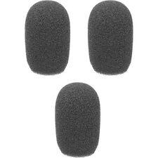 "Auray Foam Windscreens for 3/8"" Diameter Microphones (3 Pack) (Black)"
