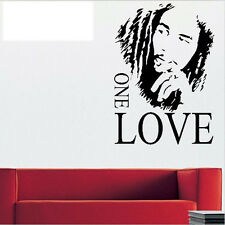 New Removable Wall Stickers BOB MARLEY ONE LOVE Background For Room Decals