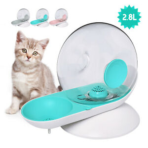2.8L Automatic Dog Cat Water Fountain Flow Control Dish Pet Drinking Dispenser