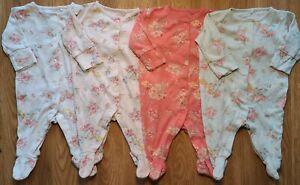 100% Next floral Newborn baby girl Sleepsuit Bundle Upto 1 Month 10lb (28)