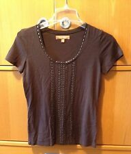 Lot of 2: Ellen Tracy scooped neck brown T-shirt , Banana Republic V-neck grey T