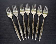 Lyon Stainless Cortez Aztec Salad Forks 7pcs Flatware International Geometric