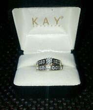 14k yellow gold diamond engagementwedding ring set 1 carat all together - Kay Jewelers Wedding Ring Sets