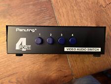 New listing Panlong 4 Port Audio Video Switcher