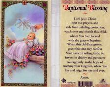 Baptismal Blessing Catholic Prayer Card Baptism Baptise Laminated Cards HC9-074E