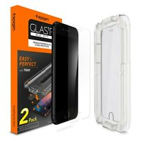 [2-PK] Spigen® iPhone 8/8 Plus [Glas.tR SLIM] EZ Fit Glass Screen Protector