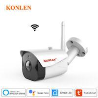 Wifi Tuya Smart 1080P Ip Camera Security Outdoor  Wireless Google Home  Alexa Hd