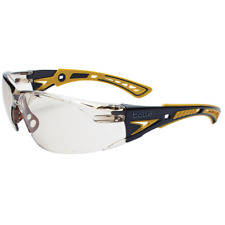 Bolle Rush Plus Safety Glasses Black/Yellow Temples CSP Anti-Fog Lens