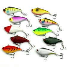 10pcs 3D Eyes Diving VIBE Fishing Lures Bait Lipless Swimbait Crankbait 10g/6cm
