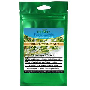 NoFillerSupplements Full Spectrum Thyme Vegetable Capsules Thymus vulgaris
