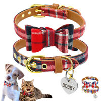 Personalized Pet Dog Collars Adjustable for Small Puppy Cat Custom ID Name Tags