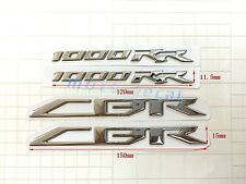 New Raised 3D Chrome Silver Decal Emblem Sticker Honda CBR1000RR 2008-2015 Bling