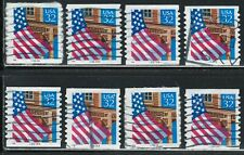 U.S.Flag Stamps with different Plate#.(used)