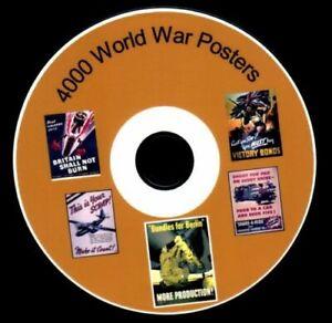 4000 World War Poster Images on DVD