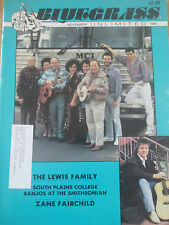 1992 Bluegrass Unlimited Magazine - The Lewis Family; Zane Fairchild