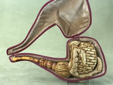 L ORNATE EGG IN CLAW  Block Meerschaum-NEW W CASE#177 Free Shipping