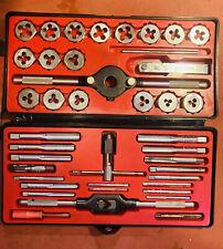 Vintage Sears Craftsman Kromedge 40 pc Tap & Hexagon Die Set #9 5206, Hard Case