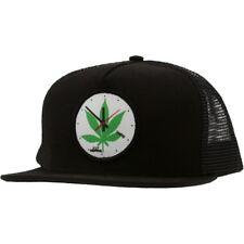 HUF x Skate Mental 420 Clock Snapback Cap (black)
