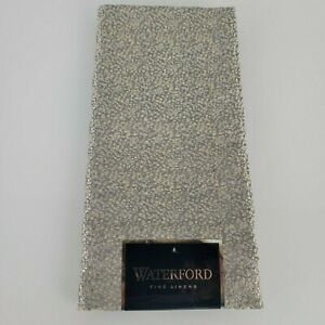 Waterford Fine Linens Napkin Silver Gray Gold Flecks Pebble Texture NEW