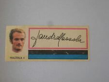 FIGURINA CALCIO PANINI 1971/72 FUORI RACCOLTA INTER SANDRO MAZZOLA CON VELINA