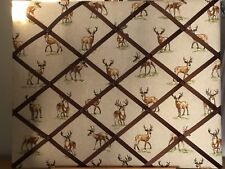 Hand Made Fabric Notice Board Stag Fabric
