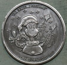 New ListingOrder Of Myths 2003~ Oxidized Silver Silver Mardi Gras Doubloon~Dr. Seuss