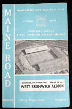 Manchester  City v West Bromwich Albion     25-3-1967   with token