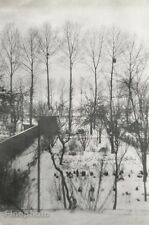 1946 France WINTER SNOW LANDSCAPE Kitchen Garden Art 16x20 HENRI CARTIER-BRESSON