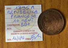 REPUBBLICA FRANCESE 10 CENT 1895 A sigillata BB+ NUMISMATICA SUBALPINA