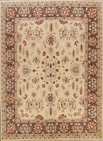 8x10 Floral Peshawar Oriental Traditional Area Rug Hand-knotted Wool Living Room