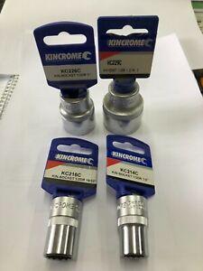 """4 x New Kincrome Sockets 1/2inch. 19/32. 1inch. 1-3/16. 1/2"""" Sq Drive Socket"""