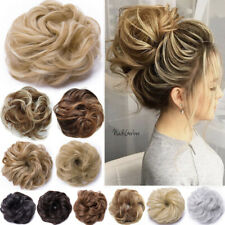 Real Thick Curly Messy Bun Hair Piece Scrunchie 100% Natural Updo Hair Extension