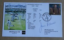 OLD ENGLAND 1997 CRICKET COVER SIGNED BY ENGLAND WICKETKEEPER JIM PARKS