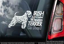 Irish Soft-coated Wheaten Terrier - Car Window Sticker -dog Sign Print Gift Typ1