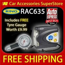 FREE Tyre Gauge Worth £9.99 Ring RAC635 Compressor 12v Car Tyre Inflator