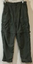 REI Cargo Zip Off Pants Shorts Packable Travel Nylon UPF 50+ SIze M 30L Green