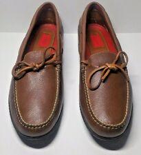 Izod Footwear LX NT 104 Floater Tan Men's Leather Slip on Shoe Size 10.5 M NEW