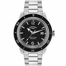Rotary Ocean Avenger Silver Stainless Steel Strap Mens Watch RRP £185