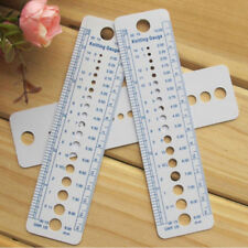 Accessories Costura Plastic Knitting Needle Gauge 1pcs Inch Cm Ruler 2-10mm