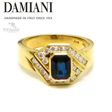 NYJEWEL Damiani 18k Yellow Gold 1.7ctw Sapphire & Diamond Ring