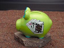 KCG Sparschwein Pokerschwein Geschenkverpackung 9 x 12,5 cm / Spardose