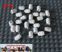 25X Lego® 3062 Basic runde Steine Round Bricks 1X1 Weiß White NEU
