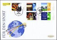 BRD 2006: Sporthilfe! FDC der Nr. 2517-2521 mit den Berliner Sonderstempeln! 1A