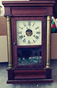 Antique Seth Thomas Column OG Striking Weight Driven Clock