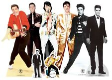 Elvis Table Top Official Cardboard Cutouts Pack Of 8 Party Decorations