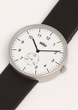 New Braun Dieter Analog BN-24WHG Fine White Dial Mens Classic Date Watch BN0024