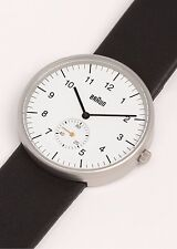New Braun Dieter Analog BN-24WHG Fine White Dial Mens Classic Date Watch BN0024